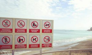★ Prohibido! Or What u shouldn't do on beach in Ecuador :) #Ecuador #Salinas #Beach #Prohibition #Sign #EcuadorPotenciaTuristica #EcuadorIsAllYouNeed #EcuadorTravel #Ecuadorian #EcuadorFlavors #DiscoverEcuador #EcuadorAmaLaVida #EcuadorLoveLife #EcuadorUnidos #Landscape #LikeNowhereElse #EarthPorn #InstaTravel #TravelGram #TravelPorn #Tropical #Paradise #Beauty #The #Nature #Clouds #CloudPorn #Photograph #PicOfTheDay #Colorful