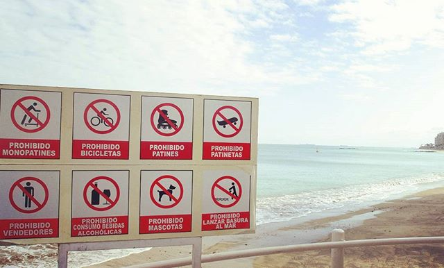 ★ Prohibido! Or What u shouldn't do on beach in Ecuador :) #Ecuador #Salinas #Beach #Prohibition #Sign #EcuadorPotenciaTuristica #EcuadorIsAllYouNeed #EcuadorTravel #Ecuadorian #EcuadorFlavors #DiscoverEcuador #EcuadorAmaLaVida #EcuadorLoveLife #EcuadorUnidos #Landscape #LikeNowhereElse #EarthPorn #InstaTravel #TravelGram #TravelPorn #Tropical #Paradise #Beauty #The #Nature #Clouds #CloudPorn #Photograph #PicOfTheDay #Colorful