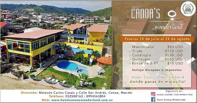 ★ @canoa_ecuador_hotelwonderland Estamos listos para atenderles como siempre!!! Este foto es tomado despues del terremoto, como pueden observar el hotel esta en muy buenas condiciones y la playa esta hermosa como siempre. Venir a visitar tambien es ayudar!!! www.hotelcanoaswonderland.com.ec - 0994563854 @canoa_ecuador_hotelwonderland @canoa_ecuador_hotelwonderland @canoa_ecuador_hotelwonderland  #hotelcanoaswonderland #canoa #ecuador #manabi #canoaswonderland #AllYouNeedIsEcuador #EcuadorTuristico #ProvinciaDeManabi #DiscoverEcuador #EcuadorPotenciaTuristica #EcuadorIsAllyouNeed #PrimeroManabi