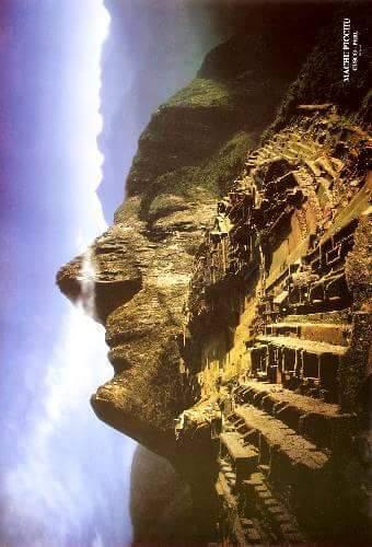 [:es]★ Machu Picchu visto de costado forma la cara del Inca, ¿lo sabías?[:]