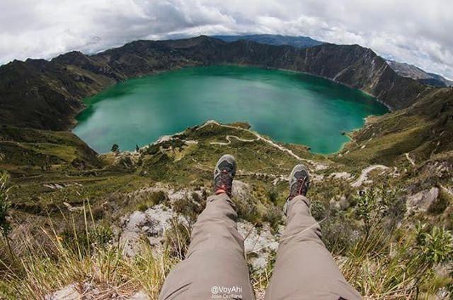 QUILOTOA - COTOPAXI  By : @voyahi  #Quilotoa #ProvinciaDeCotopaxi #...