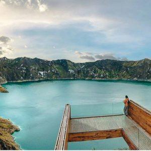 Laguna de Quilotoa.  Foto: @esteban.barr