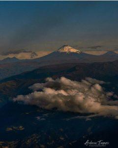 Volcán Tungurahua.  Foto: @antoniotoapaxi