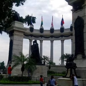 Guayaquil, Ecuador LA ROTONDA, the most important monument in Guayaquil, this one celebrates the meeting