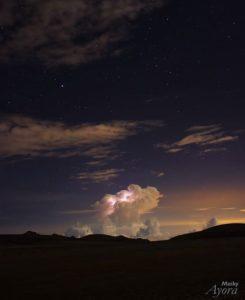 Reserva De Producción De Fauna Chimborazo Una tormenta electrica captada a lo lejos en las faldas del volcan chimborazo  #rioba