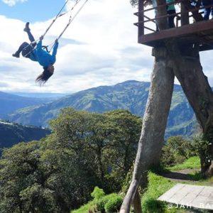 Columpio Del Fin Del Mundo Localizado na província oriental de Tungurahua, no Equador, há uma casa na árvore com