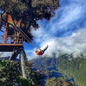Baños, Tungurahua, Ecuador  COLUMPIO AL FIN DEL MUNDO - BAÑOS - PROVINCIA DE TUNGURAHUA  #Baños #ProvinciaDeTung