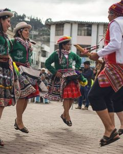 Otavalo Dancers from eight different Latin American nations met for Inti Raymi, or the sun fe