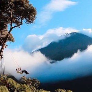 Volcano Treehouse Swings... Oh Ecuador 🇪🇨 😏 Shot taken 2014. Delivering water fi...
